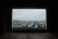 View of the city from inside Kōchi-jō