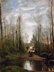 Camille Corot - L'Eglise de Marissel (1866). (Guillaume Cingal) Tags: