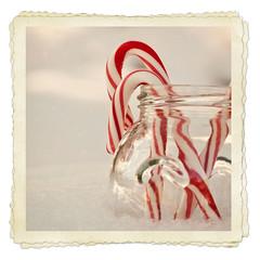 Wee Bit of Red, Macro Monday (Cat Girl 007) Tags: christmas snow macro glass square holidays soft pastel frame jar explored florabella macromonday softlyspoken glitterbrush softlypastel purepuritysimplylovely exploreworthychallenge31xmasholidaycard
