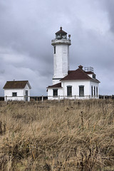 Point Wilson Lighthouse 2 (Pastv4) Tags: water clouds lighthouses sony overcast fortworden wa pugetsound washigton masoncounty beaconoflight admiraltyinlet pointwilsonlighthouse lighthousesofwashingtonstate sonya55v