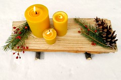 simple gifts: diy yule log tray (mayalu) Tags: holiday diy candles rustic logs simplegifts