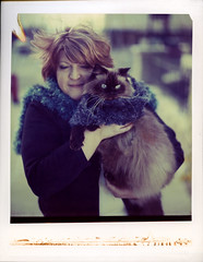 Leslie & Schmoop on Polaroid 8x10 (mat4226) Tags: longexposure blue portrait sun cute love film loving cat hair polaroid outdoors big eyes fuji wind fuzzy blueeyes w adorable kitty sunny wideangle 8x10 portraiture leslie cuddly luv cuddle flare aww fujifilm backlit f56 expired fujinon cuddling largeformat ragdoll stopmotion impossible schmoopie 809 luvin expiredfilm mrwonderful instantgratification filmphotography instantfilm peelapart reciprocity 210mm schmoop 8x10film polaroid809 bellowsfactor believeinfilm