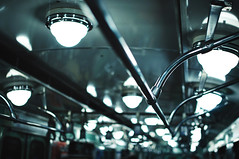 26/30: Budapest metro lights (next_in_line) Tags: metal train underground subway lights shine metro steel budapest rail