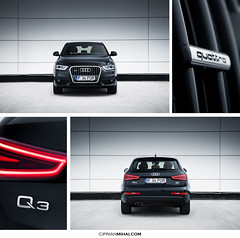 Audi Q3 Front and Back (CiprianMihai) Tags: auto red black car canon tdi eos photo automotive clean mihai audi q3 quattro ciprian 40d worldcars