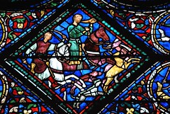Chartres (Ranulf 1214) Tags: france art history roman gothic vitrail histoire 28 pascal middle ages vitraux moyen cathédrales eureetloire gaulain