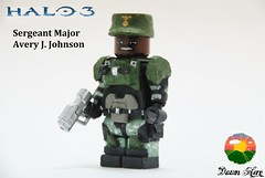 LEGO Halo 3 - Sgt. Johnson (1) (Dawn Hero) Tags: lego johnson halo magnum minifigure halo3 brickarms brickforge customminifig sergeantjohnson dawnhero legosgtjonson