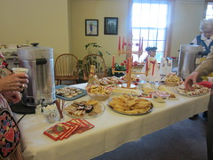 Swedish Treats for St. Lucia Day (Pictures by Ann) Tags: red party music white holiday church cookies festive bread dessert religious costume candles december dress singing traditional hats desserts celebration sing crown treat lit scarves stluciaday december13th santaluciaday