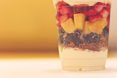 Fruit Parfait (redaleka) Tags: pink blue red food black cold love cup colors fruits yellow closeup fruit breakfast dinner dessert frozen yummy healthy strawberry berry colorful berries dof sweet cut amman strawberries tasty fresh jordan delicious blueberry icecream mango diet flakes granola cornflakes blueberries ripe fatfree parfait mangos frozenyogurt gummybear sweettooth citymall pinkberry fruitparfait