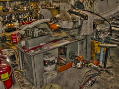 Clausing 5912 metalworking lathe in messy garage HDR (Gadget_Guru) Tags: thread metal shop mi turn michigan grunge engine machine dirt chuck kalamazoo motor 5900 tool hdr turning threading crud vfd metalworking lathe machining clausing 5912 pseudohdr 480v threephase 440v variablespeed 460v fourjaw threejaw 3jaw 59xx 4jaw