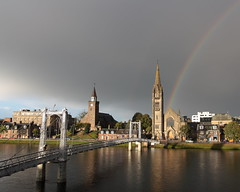 (krbnah) Tags: bridge rainbow cloudy churches inverness riverness