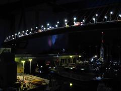 Miniaturwunderland Hamburg - Hamburg (.patrick.) Tags: bridge light night port dark licht harbor miniature model nacht hamburg illumination hafen brücke modell hamburgerhafen köhlbrandbrücke dunkel beleuchtung miwula miniaturwunderland miniatur