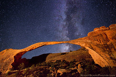 "Night stars over Landscape Arch (IronRodArt - Royce Bair (""Star Shooter"")) Tags: park light sky lightpainting nature night dark painting way stars landscape evening twilight shiny long exposure heaven glow arch shine nightscape time dusk infinity space deep arches twinkle astro sparkle galaxy national astrophotography planet astronomy universe exploration milky cosmic starry cosmos constellation distant milkyway starlight landscapearch canon24mmf14 starrynightsky ef24mmf14lii"