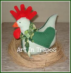 Galinha (ART IN TRAPOS) Tags: coruja patchwork decorao cozinha presentes galinhas moldes artintrapos