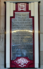 Photo of Simon de Montfort and John of Gaunt grey plaque