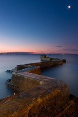 Breakwater in St. Monans, Fife (svensl) Tags: st sunrise coast scotland long exposure fife east breakwater monans