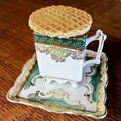 photo - Dutch Stroopwafel with Tea (Jassy-50) Tags: california cup dutch photo cookie tea alameda waffle stroopwafel demitassecup syrupwaffle caramelcookie