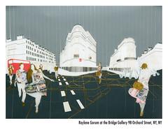 Gilded London postcard (R.bean) Tags: show city london art map perspective knightsbridge paparazzi taping ldn raylenegorum
