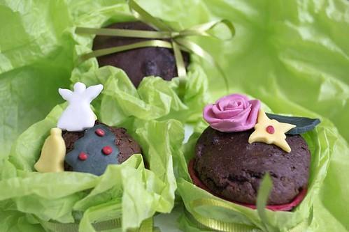 Muffins de chocolate y turrón