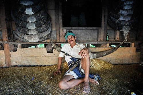 Sumbanese Man at Home