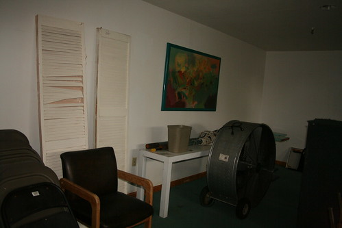 Giant air moving fan in the game room
