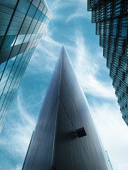 Pointing to the Sky (Kombizz) Tags: uk sky building london architecture triangle geometry space steps hard bluesky sharp missile pointing volume pointed 2472 aov pointingtothesky kombizz
