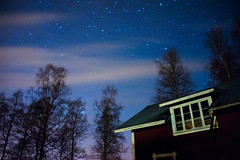 (Chrisseb) Tags: old blue trees red sky house building home window beautiful beauty night clouds barn stars photo heaven sweden 5 space sony trails scene astro trail photograph astronomy mm alpha 18 dalarna constellations astrology constellation nex Astrometrydotnet:status=failed Astrometrydotnet:id=alpha20111207588627