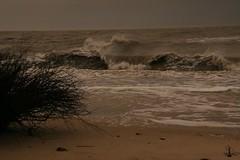 Leichter Sturm an der Kugelbake Cuxhaven 002 (Stilkollektiv) Tags: strand wasser wind wolken nordsee wellen cuxhaven sturm stil