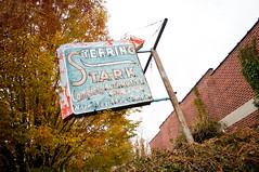 steering stark (Sam Scholes) Tags: old classic sign digital utah nikon neon saltlakecity weathered d300 automative autoshop steeringstarkcompleteautomotive