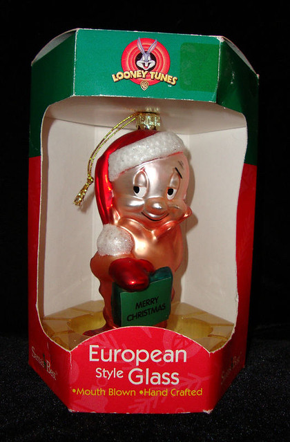Warner Bros Looney Tunes Elmer Fudd Glass Ornament European Glass