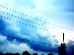 really pretty blue clouds (thepinkjellyfish) Tags: sky clouds telephonewires