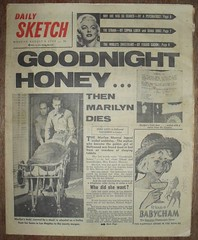 DAILY SKETCH (old school paul) Tags: vintage frontpage 1962 dailysketch marilynmunroenewspapers
