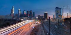 SOSS (Sunset Over Seventy Six) (ADW44) Tags: street sunset philadelphia station skyline panoramic penn philly hdr universitycity i76 cityofbrotherlylove ptgui bluehr drexel30th
