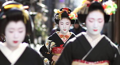 geisha / japan / maiko / people / kyoto / girl / traditional / makeup (momoyama) Tags: new travel red portrait people woman black girl beautiful beauty face fashion japan canon japanese costume focus kyoto asia traditional culture 85mm maiko geiko geisha 7d