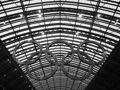 St Pancras International (DaveKav) Tags: england london station train circles olympus rings olympics 2012 e510 stpancrasinternational