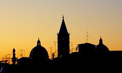 Piazza Vittorio vi osserva (Aesa79) Tags: sunset sky skyline sunrise tramonto tetto alba tetti chapel cielo cupola canoneos1000d