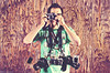 Week 2/52- Camera Addiction (EMIV) Tags: canon 5d2 5d 40d fuji x100 minolta x70 sony cybershot 430ex vivitar 285hv camera shirt 50l 135l 35l