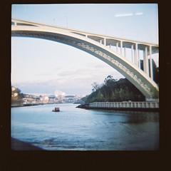 Ponte Arrábida (Uka wonderland) Tags: bridge blue portugal lomo lomography diana porto f lomografia