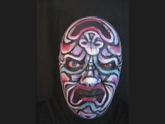 Two Way Mask! James Kuhn. Face Paint in Motion. (hawhawjames) Tags: art face painting james video comedy paint theater artist mask theatre makeup tragedy kuhn topsy tradgedy turvey vid turvy topset