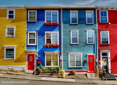 colourful homes in st john's (Rex Montalban Photography) Tags: newfoundland colours stjohns hdr rexmontalbanphotography