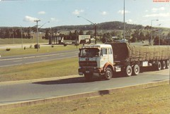 photo by secret squirrel (secret squirrel6) Tags: benz mercedesbenz oldtruck tarp marulan cabover bigrigs weighbridge humehighway worldtrucks aussietrucking secretsquirreltrucks