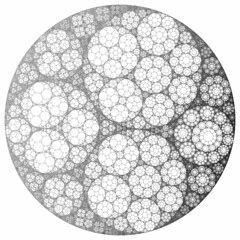 Apollonian gasket (fdecomite) Tags: circle geometry packing math inversion tangency