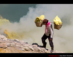 Like a Phoenix Rising from the Ashes (jean-marc rosseels) Tags: colors canon indonesia volcano basket sulfur miner eastjava kawahijen canon7d jeanmarcrosseels
