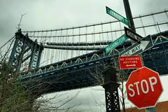 Manhattan Bridge (dansshots) Tags: nyc ny brooklyn nikon dumbo manhattanbridge hdr d3 1735mm photomatix dumbobrooklyn photomatixpro hdrphotography nikond3 dansshots
