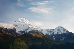 Annapurna South (7219m) and Hiunchuli (6441m) (Michał Olszewski) Tags: nepal snow clouds asia land himalayas acap tadapani gandaki kaski annapurnahimal annapurnaconservationarea annapurnaconservationareaproject patalhiunchuli annapurnasouth7219m hiunchuli6441m