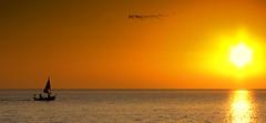 Set sail for the sun (Magic Lite) Tags: canon boats coast sailing small sunsets powershot lytham fylde s95