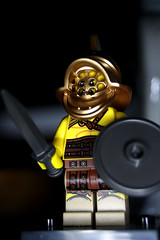 Barry Barbarian (CJ Isherwood) Tags: girl lego mini snowboard minifigs figures lumberjack gladiator barbarian minifigures