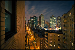 East 89th Street (rick) Tags: christmas new york city newyorkcity longexposure travel holiday newyork long exposure view manhattan balcony 2011