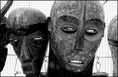 Masks In Quartzsite (greenthumb_38) Tags: arizona fleamarket swapmeet quartzsite arizonadesert jeffreybass canong11 quartzsiteyumasandiegoadventure2012