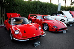 Ferrari Dino and F40 (O'Connor Photo) Tags: old red arizona cars dino auction ferrari exotic classics week scottsdale f40 rm