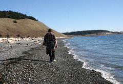 Michael on the beach! (Librarianguish) Tags: walk gorgeous bluff sunnyday 212 ebeyslanding unseasonablywarm